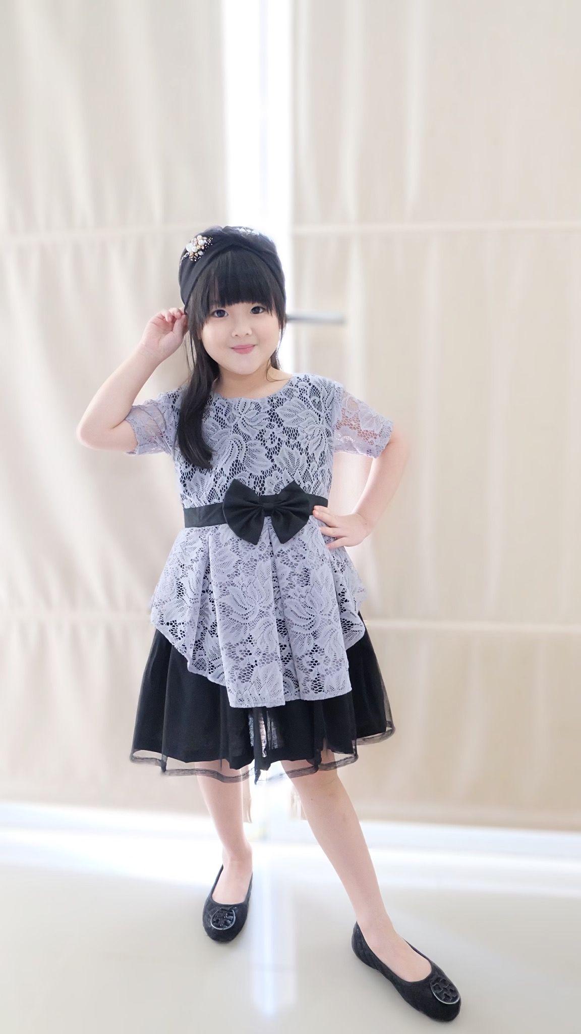 Model Baju Anak Brokat Kombinasi