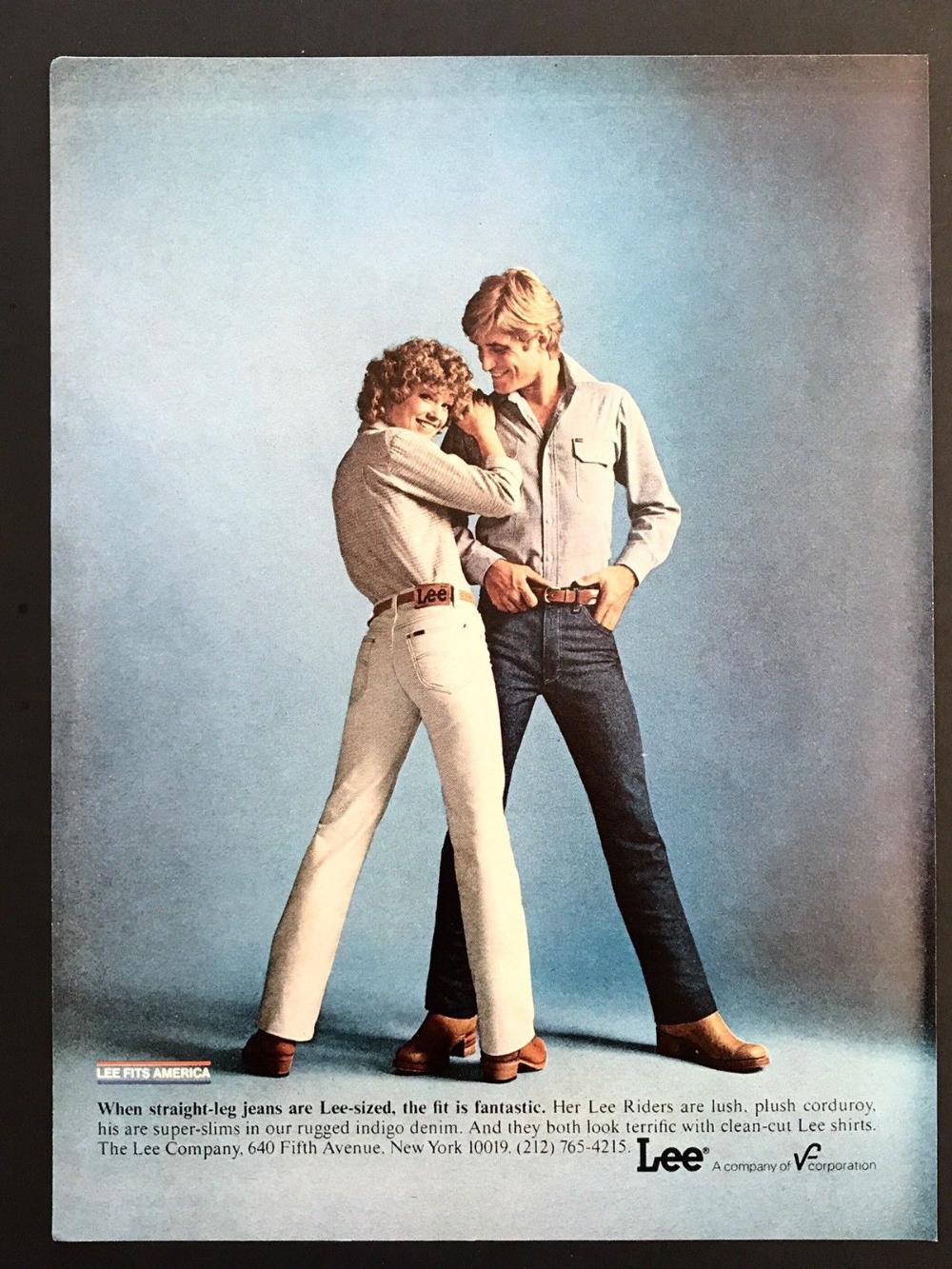 1979 Vintage Print Ad Lee Men S Fashion Blue Jean Man Woman 70 S Style Image Ebay In 2020 70s Women Fashion 70s Fashion Vintage Prints