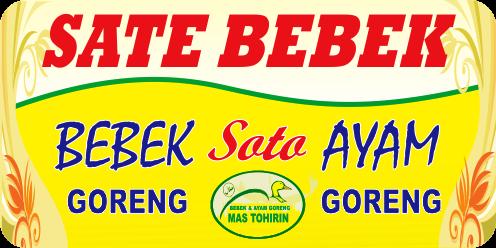 Desain Banner Jual Sate Bebek cdr | Desain banner, Desain ...