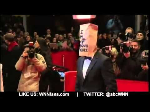 Shia LaBeouf Hits the Red Carpet Wearing a Paper Bag - YouTube