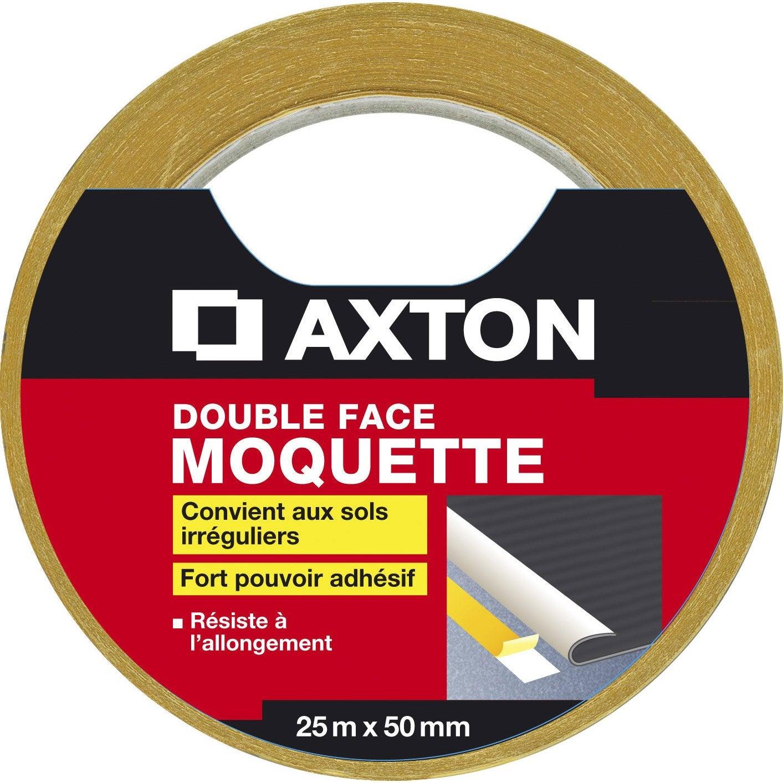 Rouleau Adhesif Double Face Moquette L 50 Mm X L 25 M Axton Moquette Adhesif Double Face Et Rouleau Adhesif