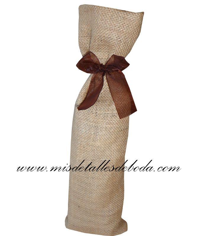Saco de arpillera para botella sacos para botella de vino pinterest sacos de arpillera - Saco arpillera ...