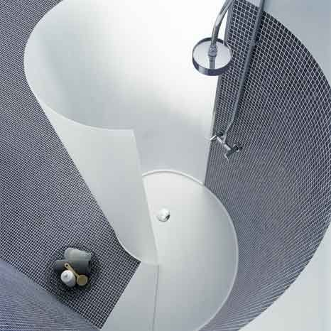 Shower stalls for small bathroom spiral shower home for Spiral shower stall