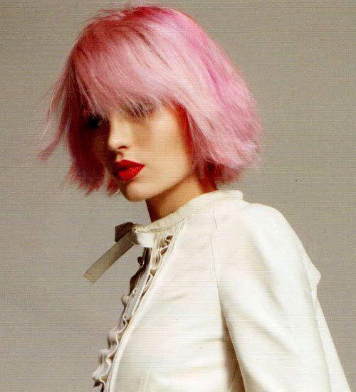I migliori colori per capelli corti a strati rosa