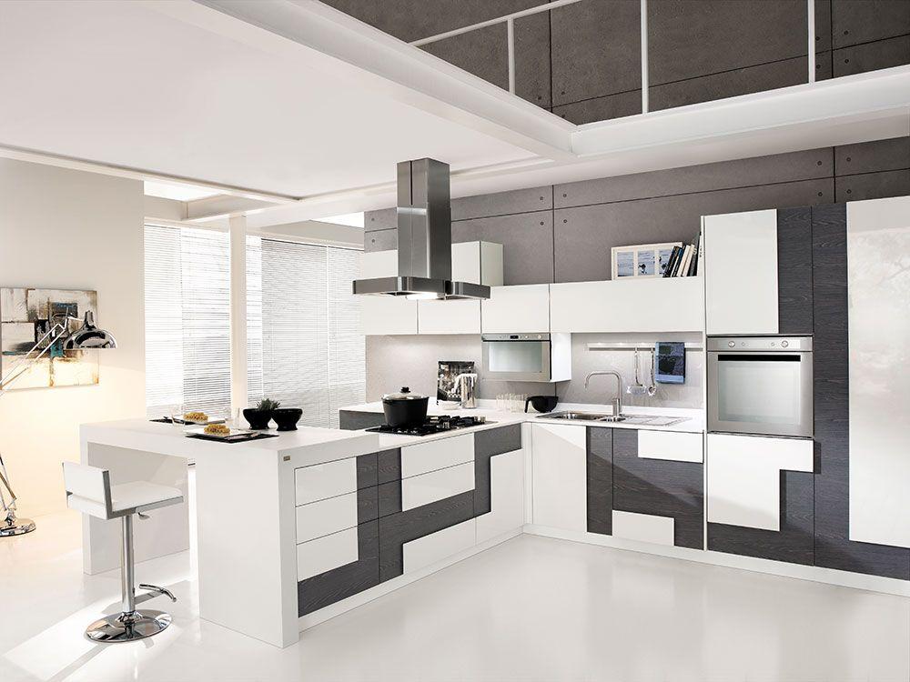 Cucine open space con penisola home sweet home pinterest open space cucine e una linea - Cucine open space ...