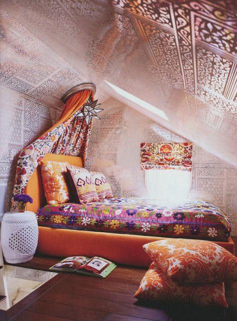 Creating A Bohemian Bedroom: Ideas & Inspiration   Bohemian, Ethnic ...