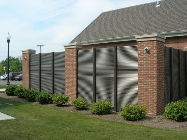 artistic metal fence panels louvered fence panels
