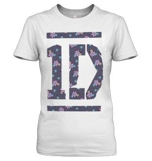 1D Floral T-Shirt. I NEED THIS! <3