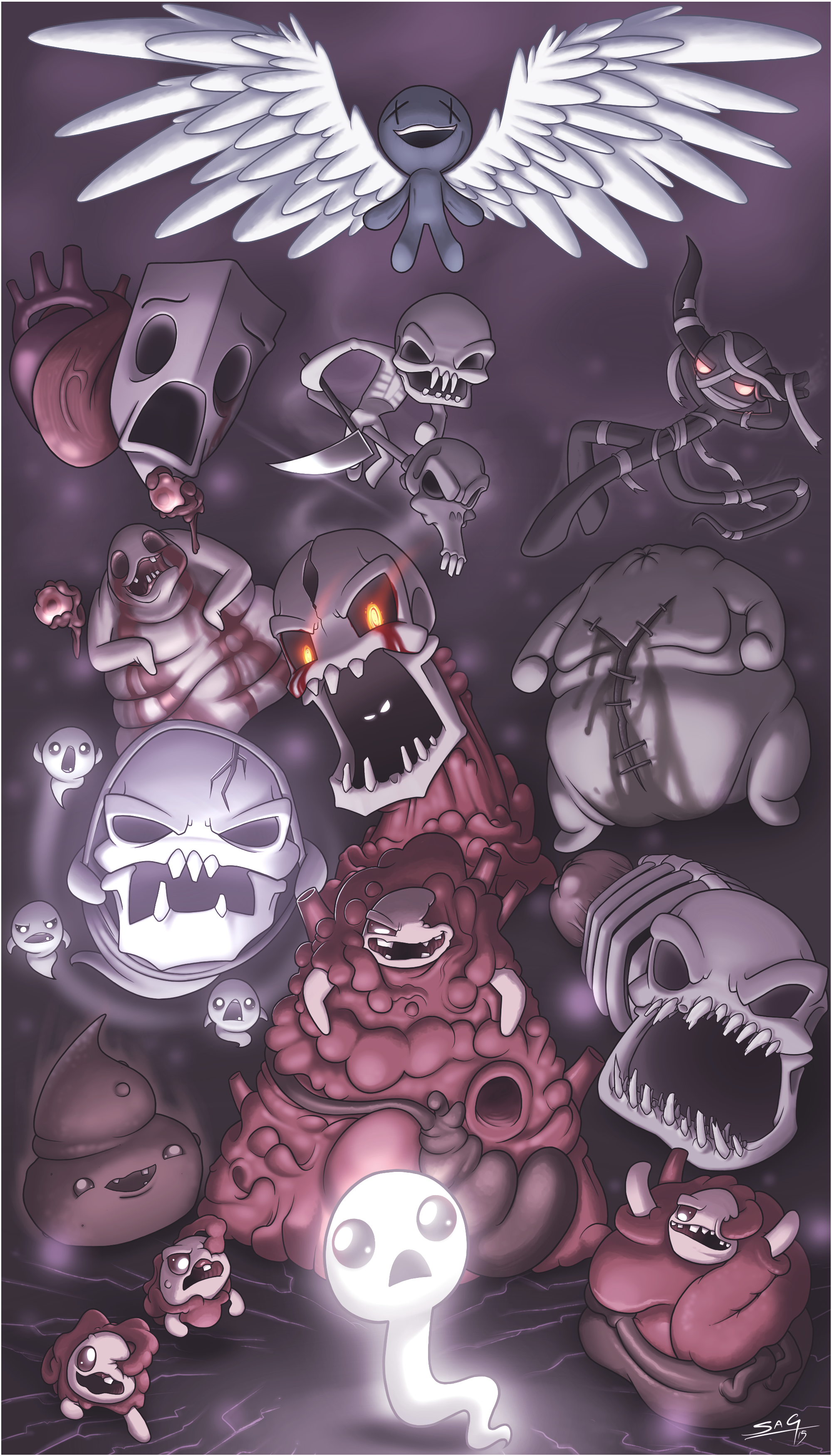 One Ghost Against The World The Binding Of Isaac Isaac Fan Art