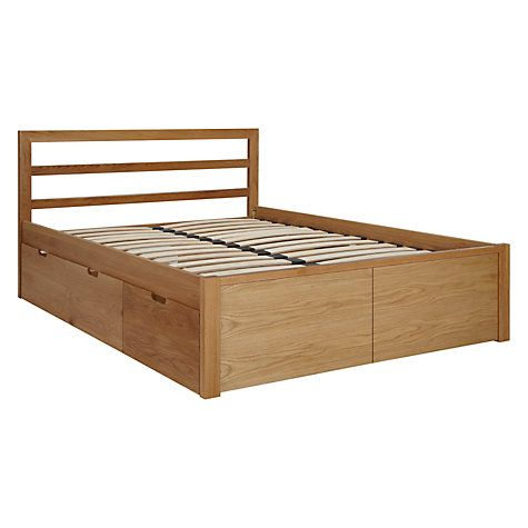 House By John Lewis Ollie Storage Bed King Size Oak Double Bed