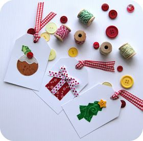 Happy christmas labels for gifts
