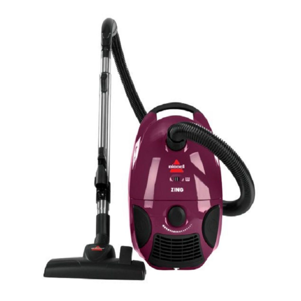 Canister Vacuum Cleaner Bagged Hardwood Floor Carpet Cleaning