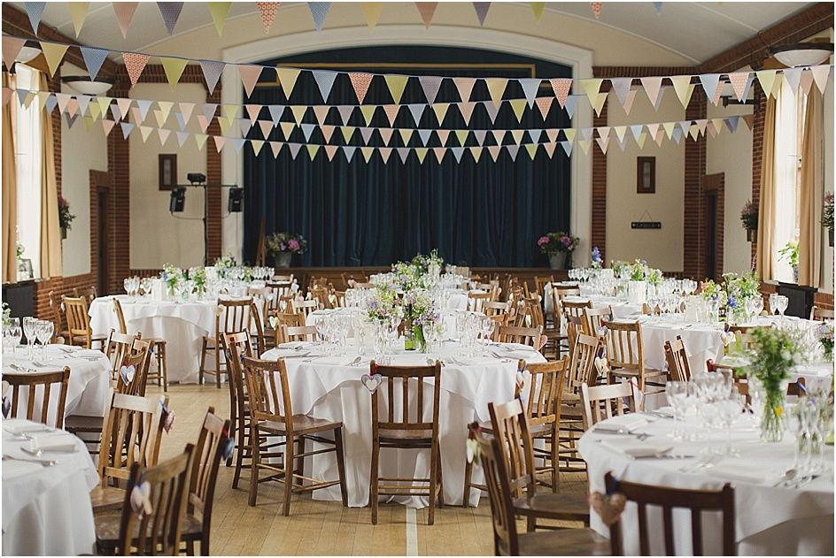 Village Hall Wedding With Bunting Wedding Pinterest Hall