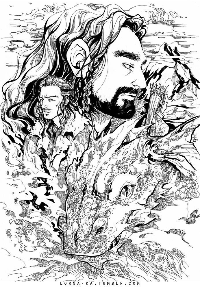 The Desolation Of Smaug By Lorna Ka On Deviantart Coloring Pages The Hobbit Hobbit Art