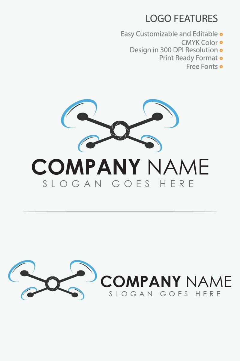 Drone Camera Logo Template #80852, #Ad #Camera #Template #