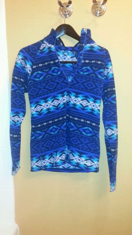 a9be8aa2aeb Blue Fleece Pendleton Print Pull Over