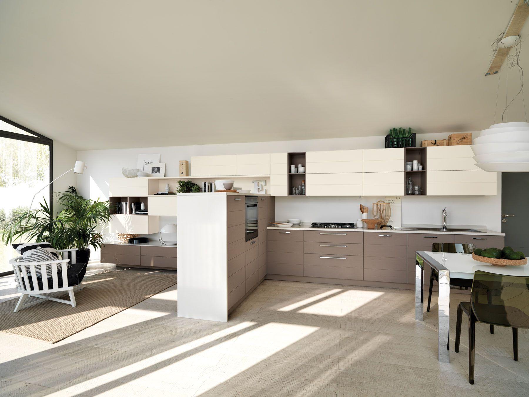 Best Salone E Cucina Unico Ambiente Gallery - Ideas & Design 2017 ...
