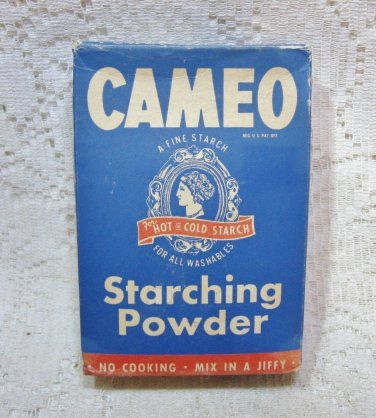 1940s Cameo Starching Powder Starch In Box Unopened Laundry Aide