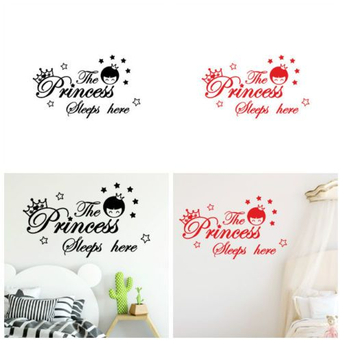 Details about The Princess Sleeps Here Wall Decals Children's Room