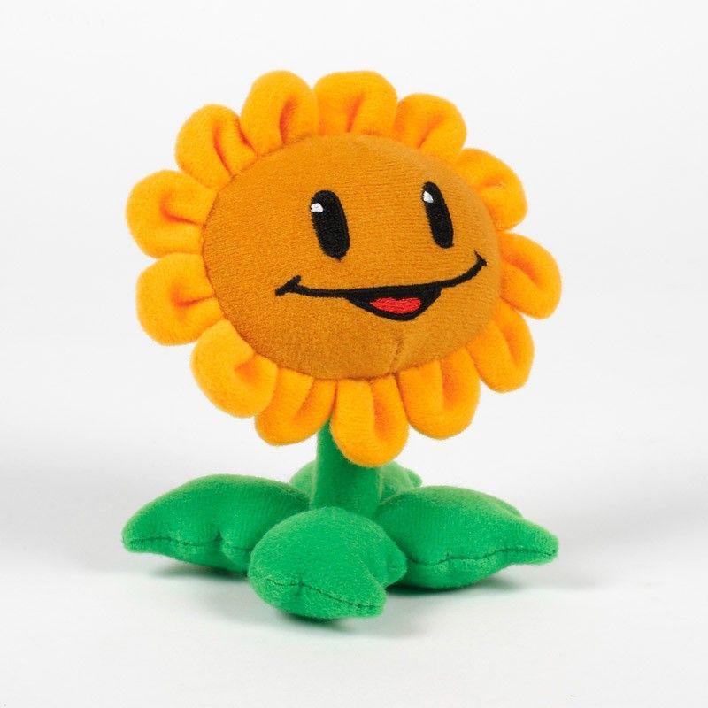 "Plants vs. Zombies Store: Plants vs. Zombies Plush Toy: 12"" Stuffed Sunflower Character"