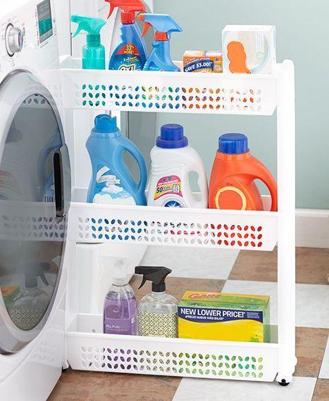Slim Space Saver Rolling Cart Organizer Kitchen Laundry Pantry