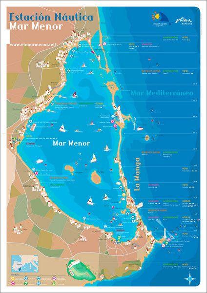 Mar Menor Mapa España.Mar Menor Espana Mapas Mapas Del Mundo Y Espana