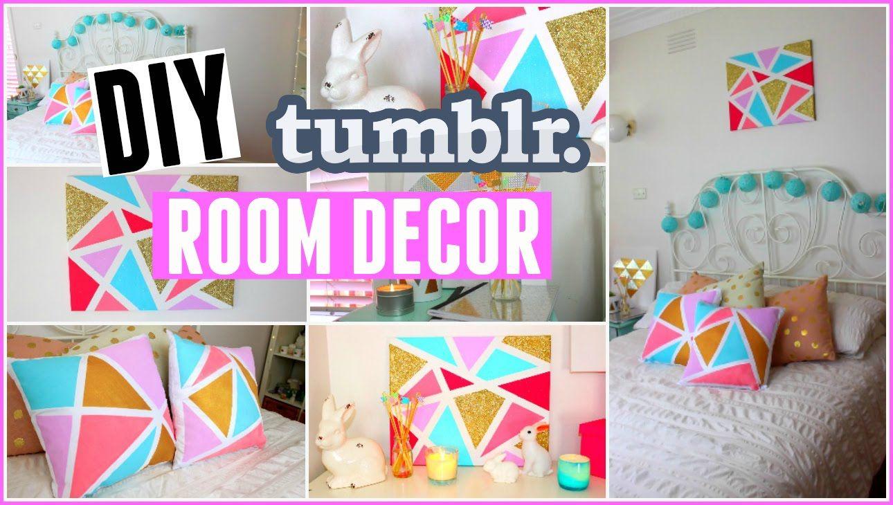 Diy Tumblr Room Decor For Spring Easy Inexpensive Geometric