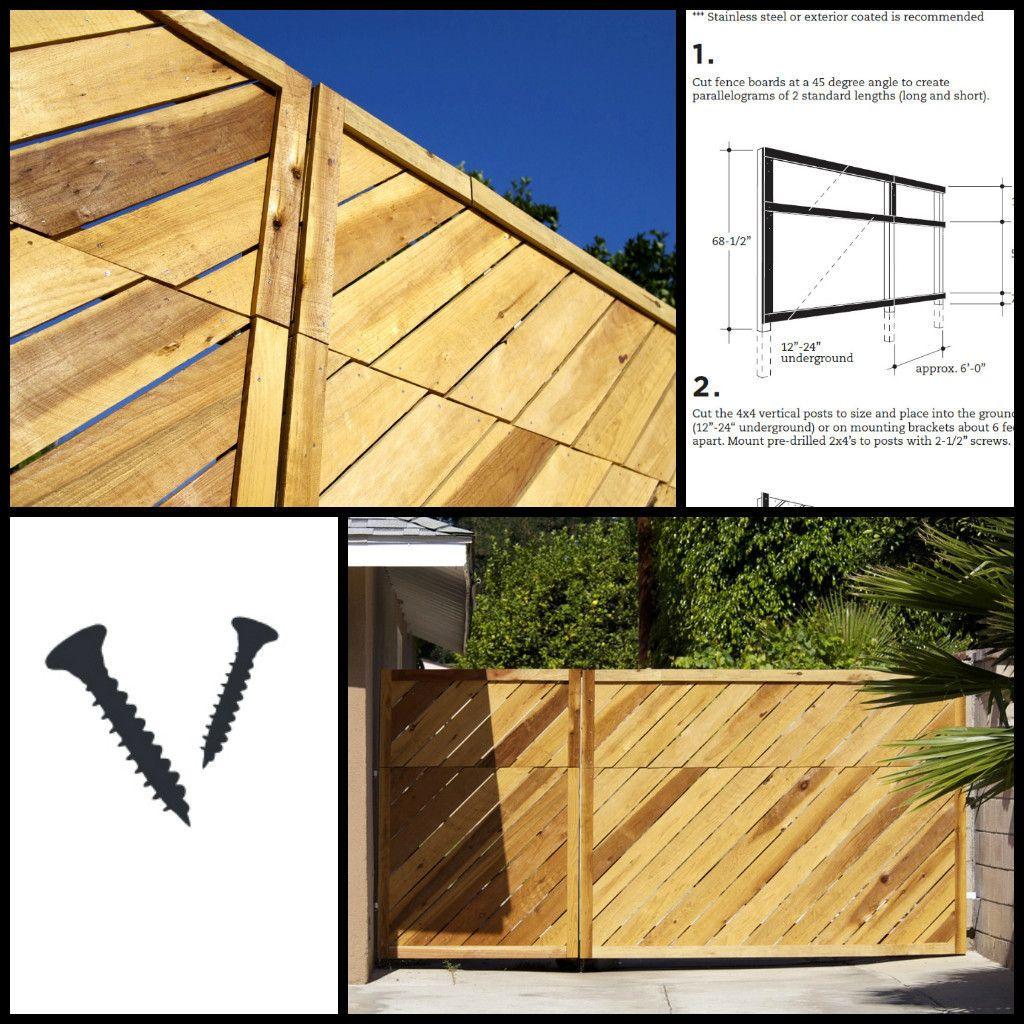 DIY slant privacy fence | Yard | Pinterest