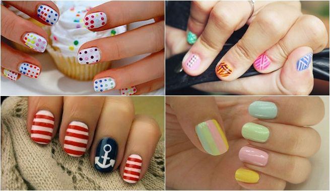 ideas para pintar las uñas con dibujos en primavera y verano