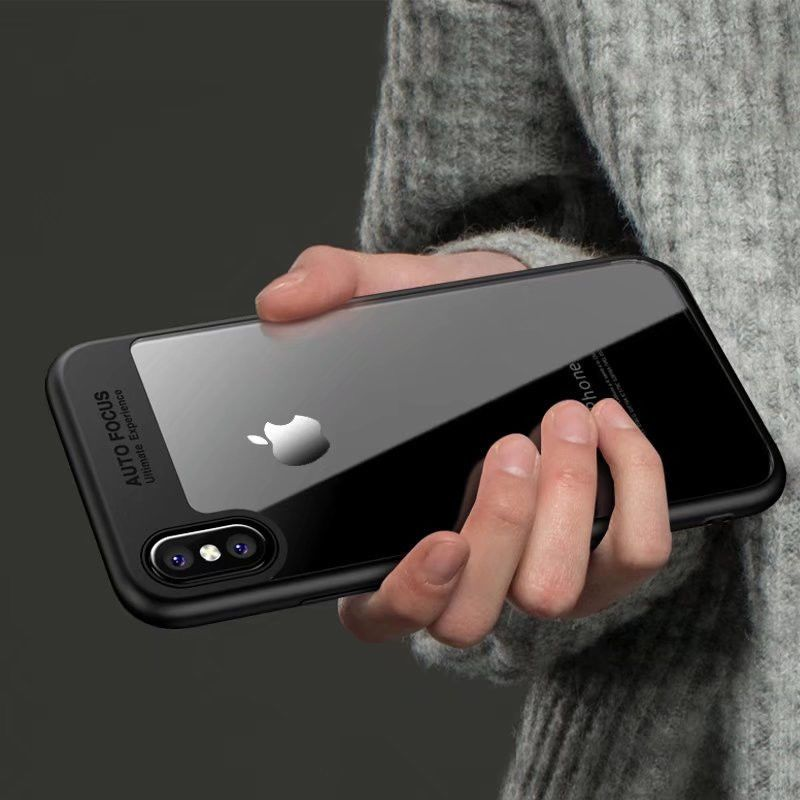 super popular 67f5d eaba7 Auto Focus Iphone X Hard Case Silicone Cover Clear Transparent Soft ...