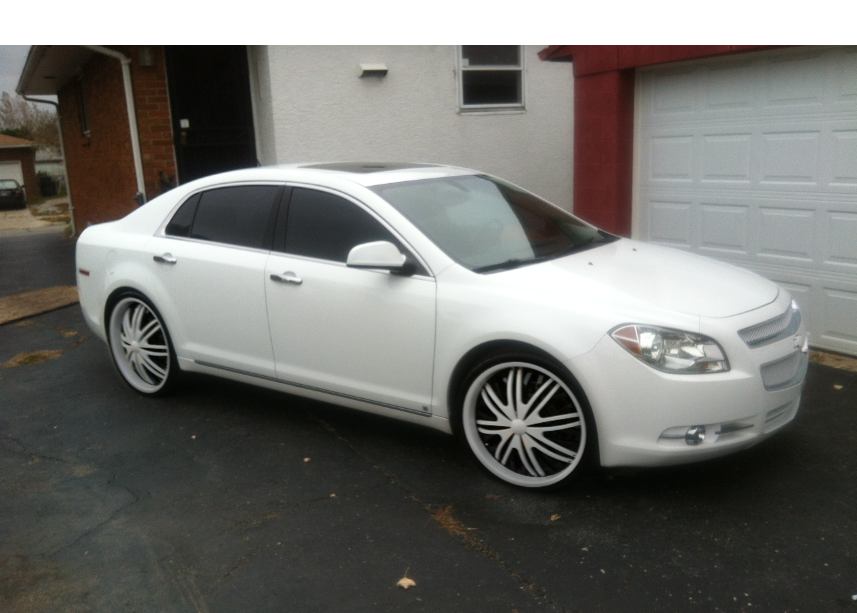 2011 Malibu Ltz On Rims White Malibu White Rims White On White