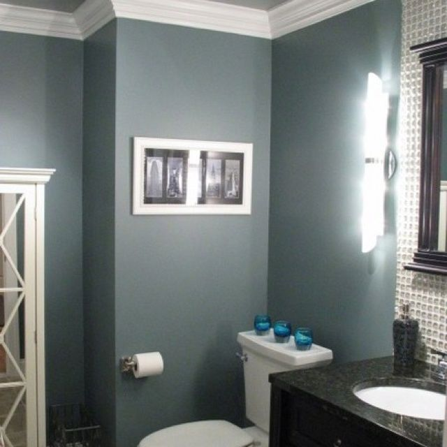 Greyish Blue Bathrooms Gray Bathroom Love This Color For Our