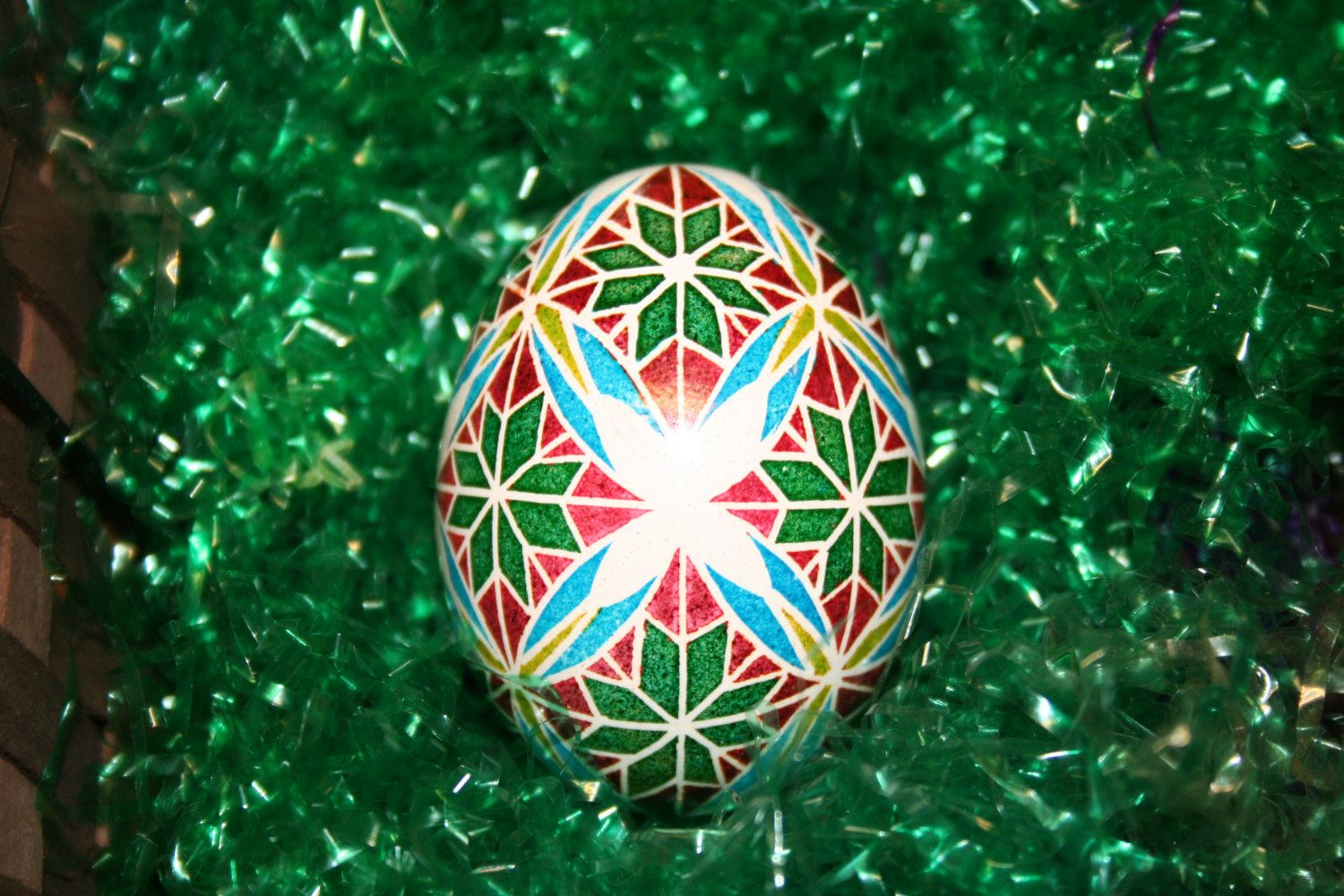 Geometric Star and Butterfly Ukrainian Egg by StiglianoDesigns on Etsy
