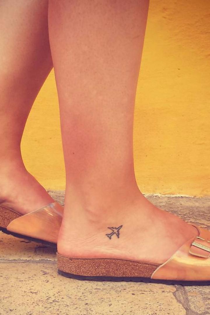 100 Tiny Tattoos For True Travel Lovers Airplane Tattoos Tiny
