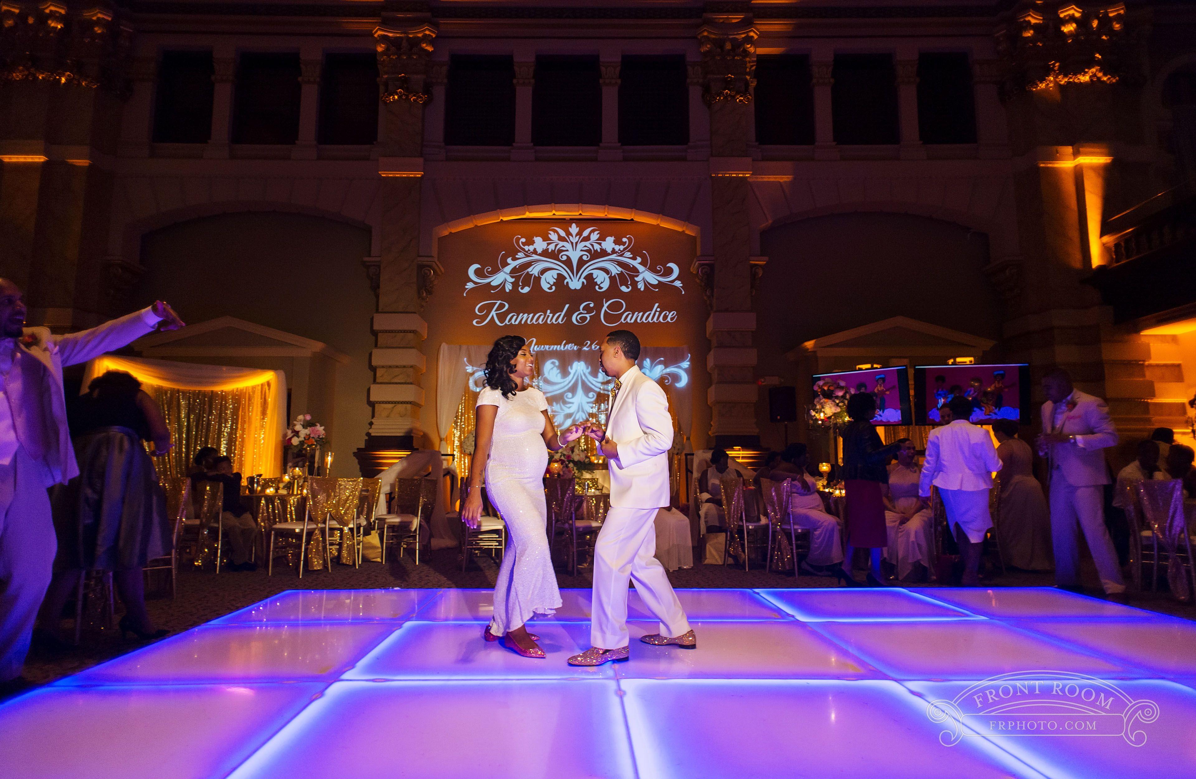 Grain Exchange Wedding Candice & Ramard! Light up dance