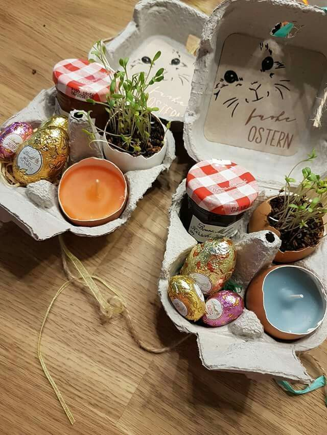 Basteln mit Kindern im Frühling / Ostern. Tolle Idee als Dekoration zum basteln