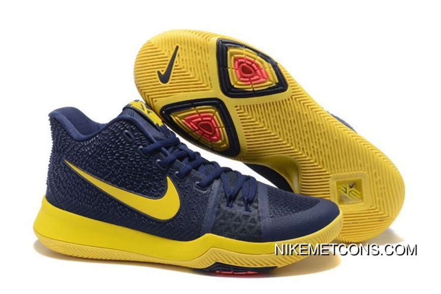 """30352a663e7 Nike Kyrie 3 """"Cavs"""" Midnight Navy-Yellow Top Deals in 2019"""