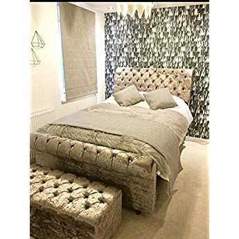 Best Mm08Enn New Luxury Sleigh Bed Frame With Matching Ottoman 640 x 480