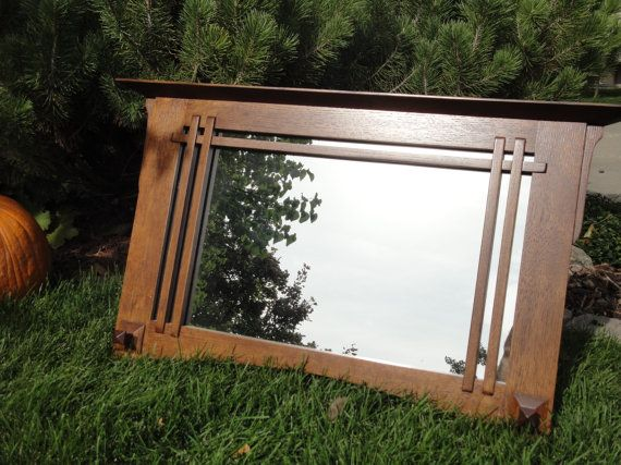 Mirror Missionstyle Handcrafted Wood By Handcraftedbyken On Etsy Craftsman Mirrors Craftsman Decor Arts And Crafts Furniture