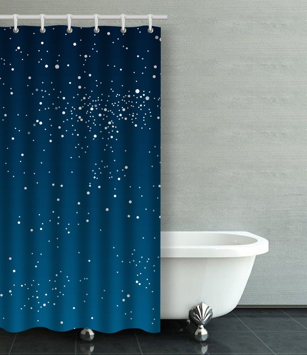 Vector Background Starry Night Sky Stars Sky Night Shower Curtain