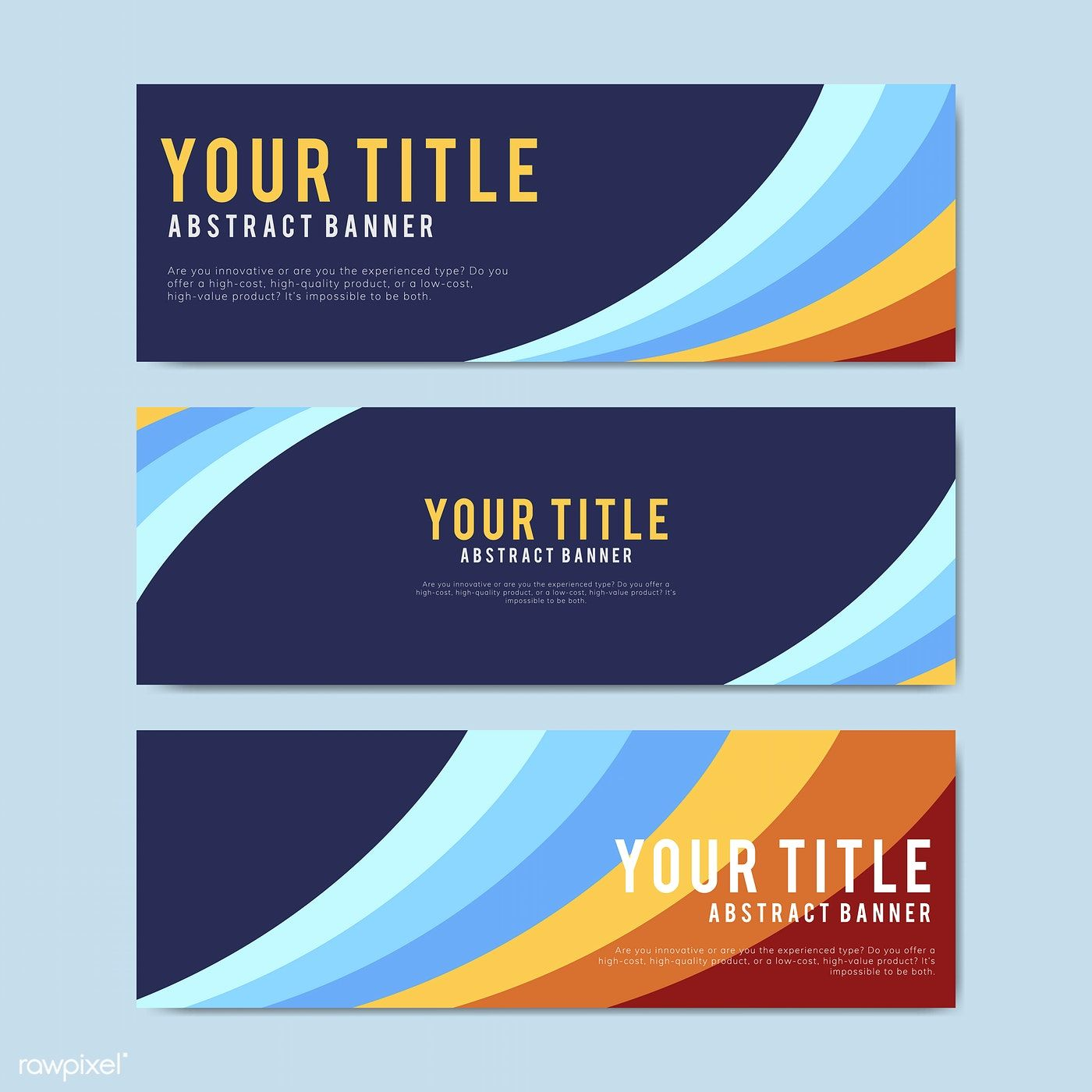 Colorful And Abstract Banner Design Templates Free Image By Rawpixel Com Banner Template Design Website Banner Design Banner Design