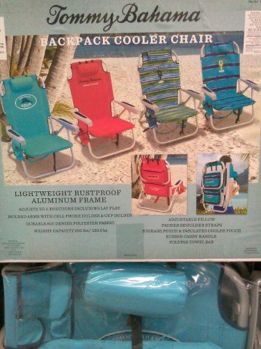 Blue And Navy Tommy Bahama Backpack Cooler Beach Chairs Umbrella Combo Find Out More Details By Clicking The Image Camping Accessories