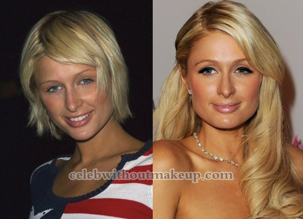 paris hilton before after makeup other pinterest makeup