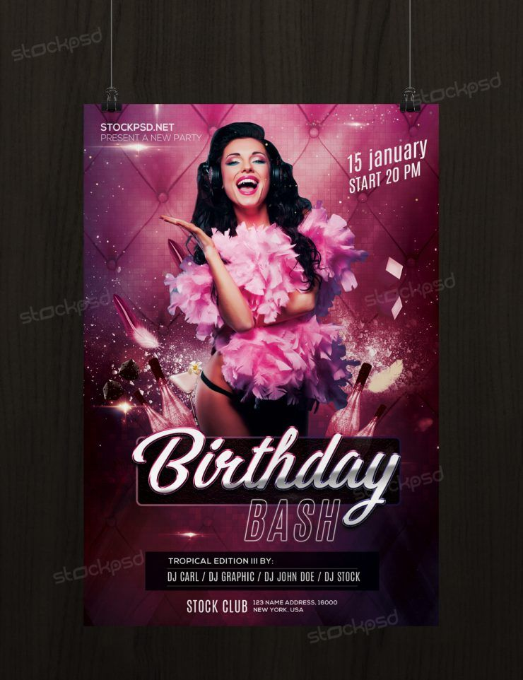 Birthday Bash Free Psd Flyer Template Fre Psd Flyers Free Psd