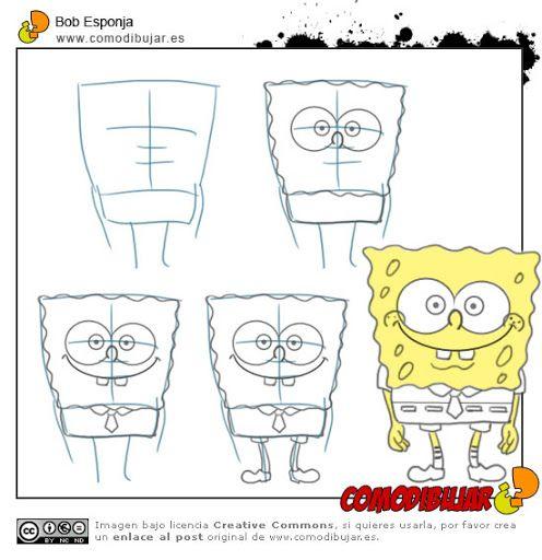 Aprenda Como Desenhar Os Personagens Do Bob Esponja Coisas
