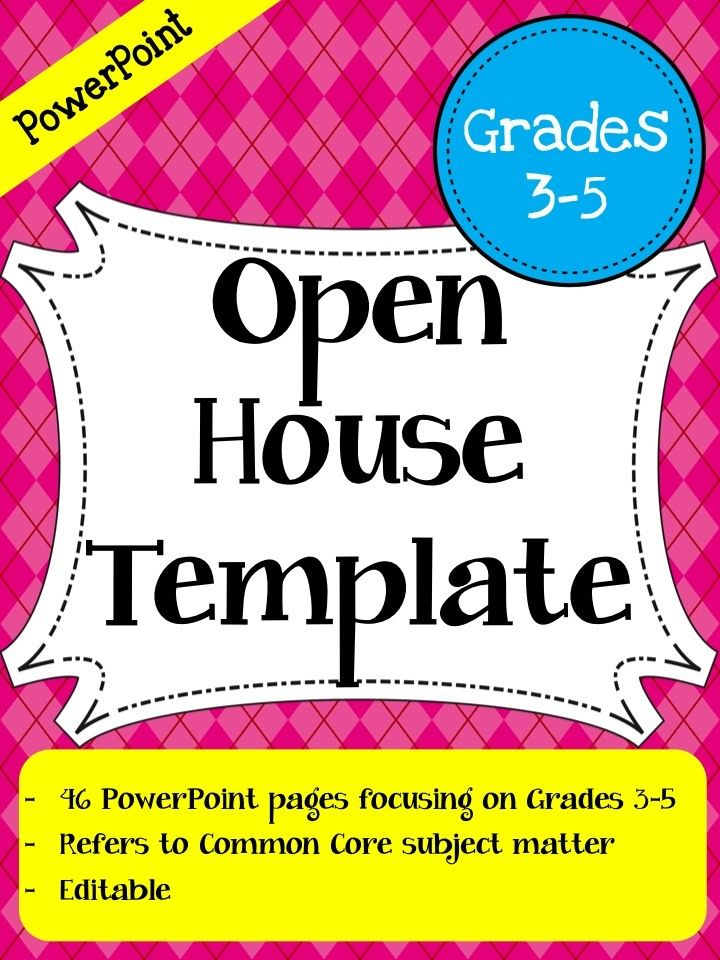 Open House PowerPoint Template (Grades 3-5) - This Open House - open house powerpoint template