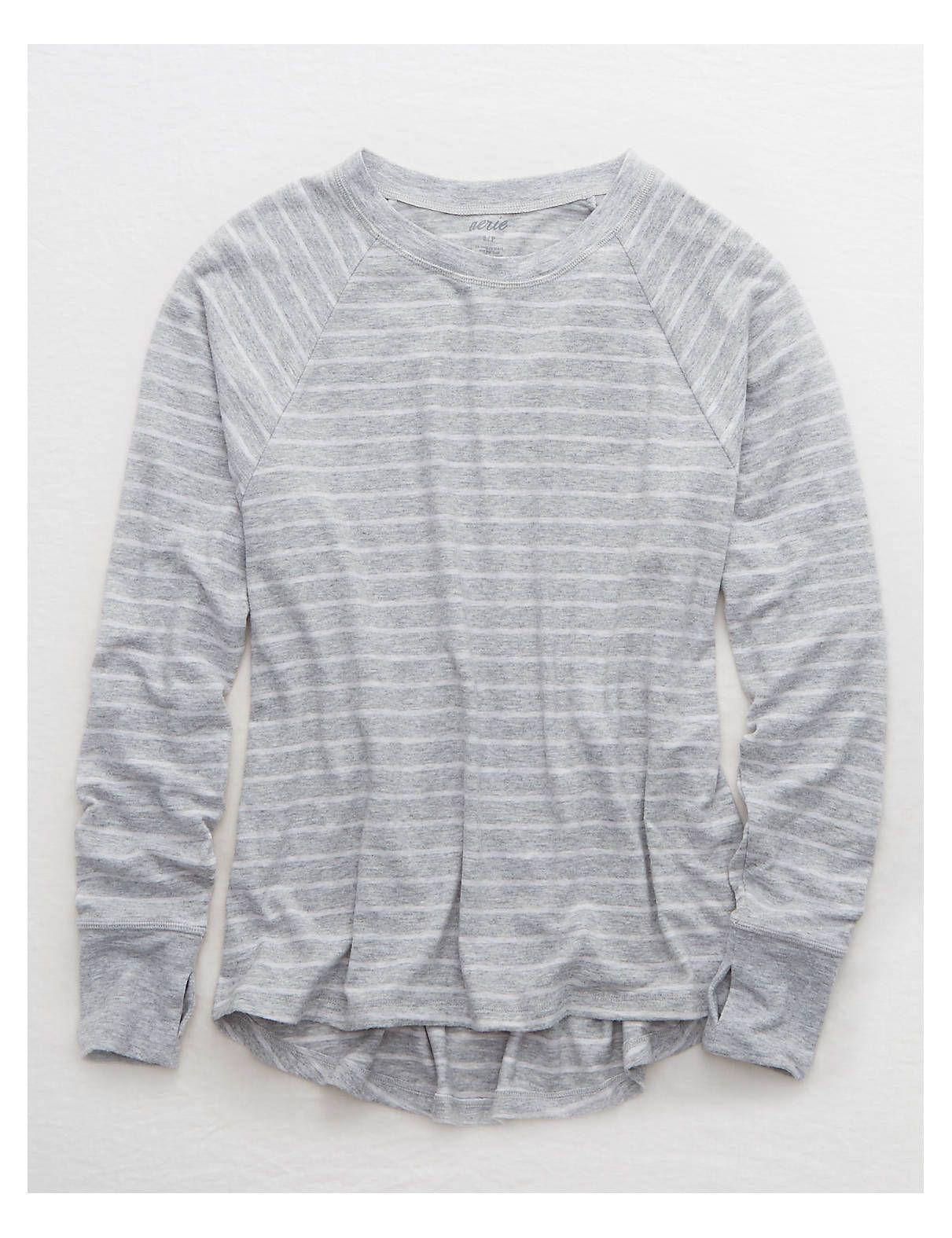 16dc5bd21deee2 Aerie Plush Pajama Tee, Medium Heather | American Eagle Outfitters ...