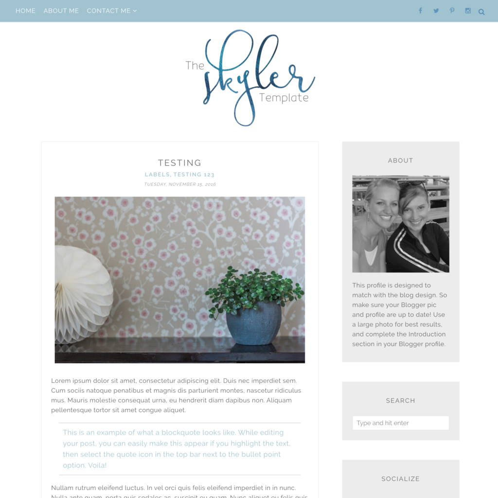 One of our new designs for blogger! The Skyler. Responsive, retina ...