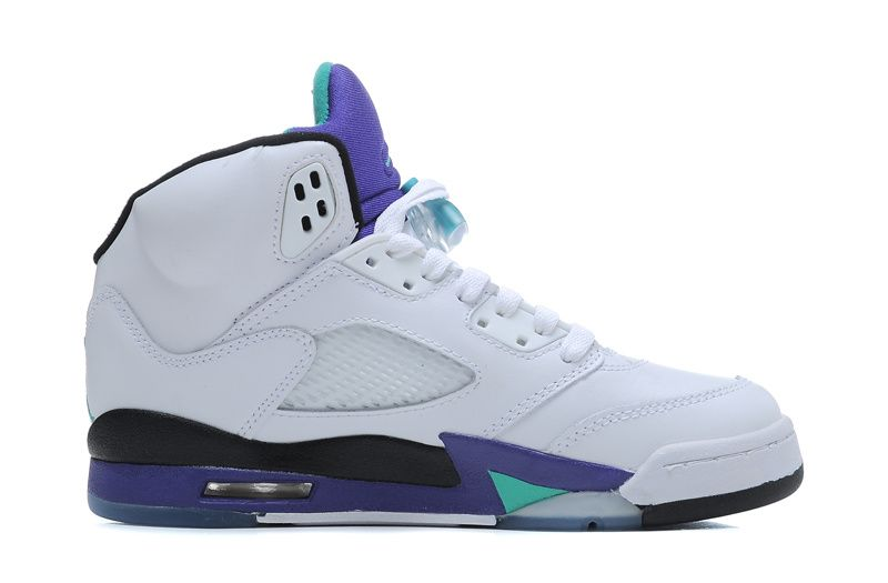 detailed look 9d080 3dd59 136027-108 Grape 5s White / New Emerald Grape Ice Blue ( Men ...