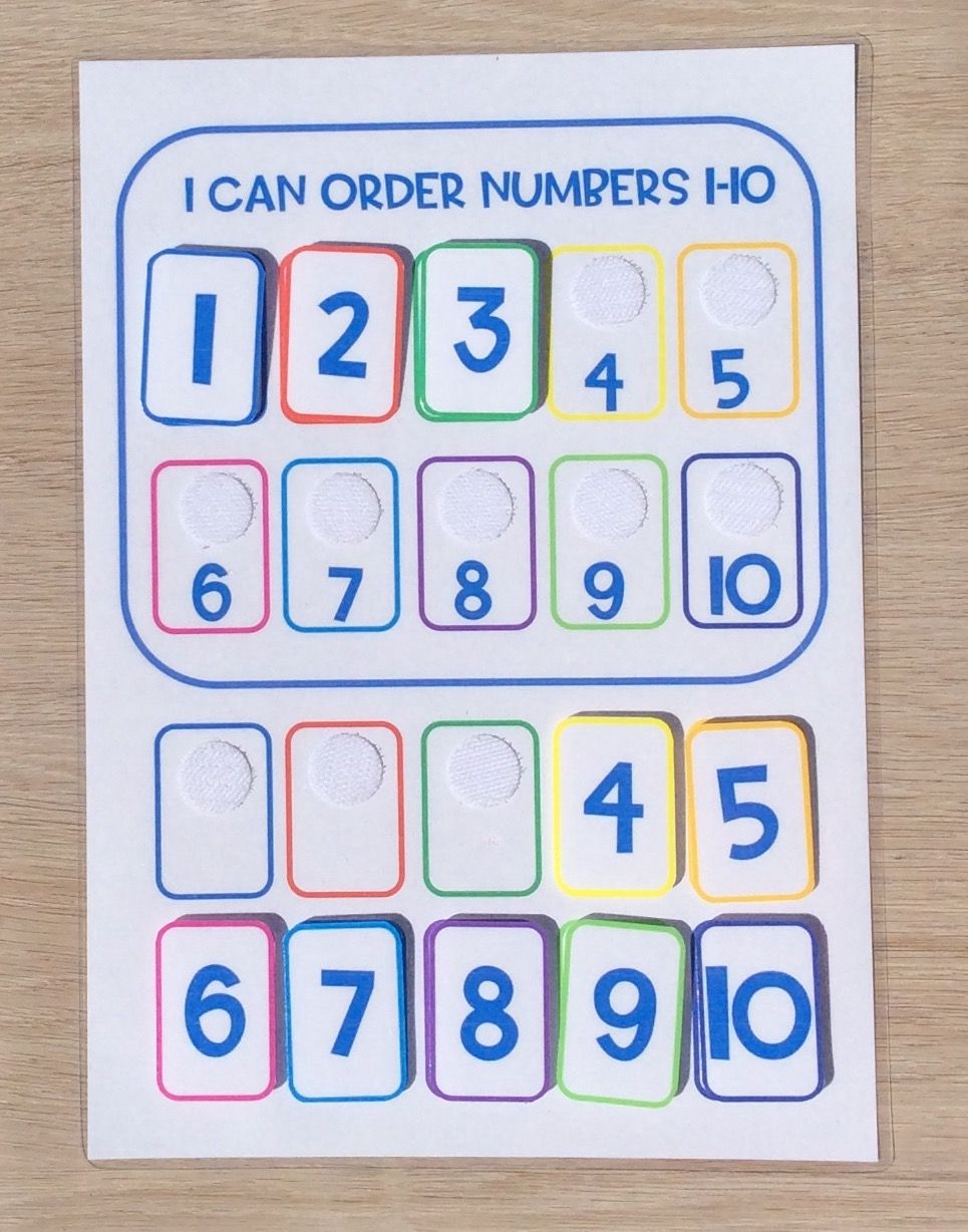 Numbers 110 Activity eBay in 2020 Infant lesson plans
